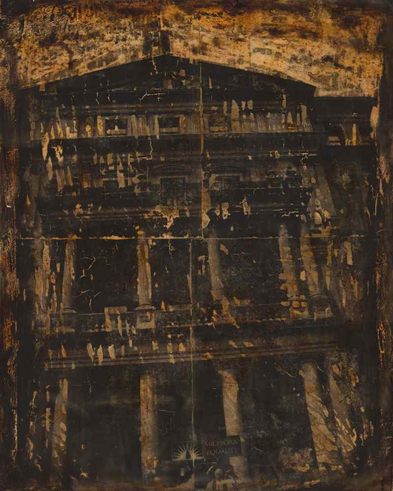 "Melissa Rian | Commitment Ceremony | Encaustic, Photo Transfer (20"" x 16"")"