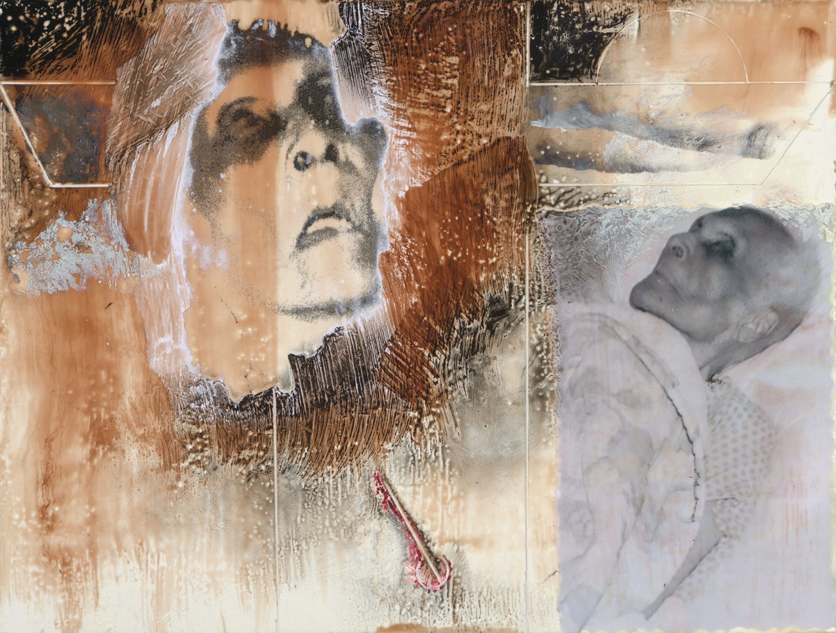 "Pat Duff | Dementia II | Encaustic, Mixed Media (8"" x 10"")"