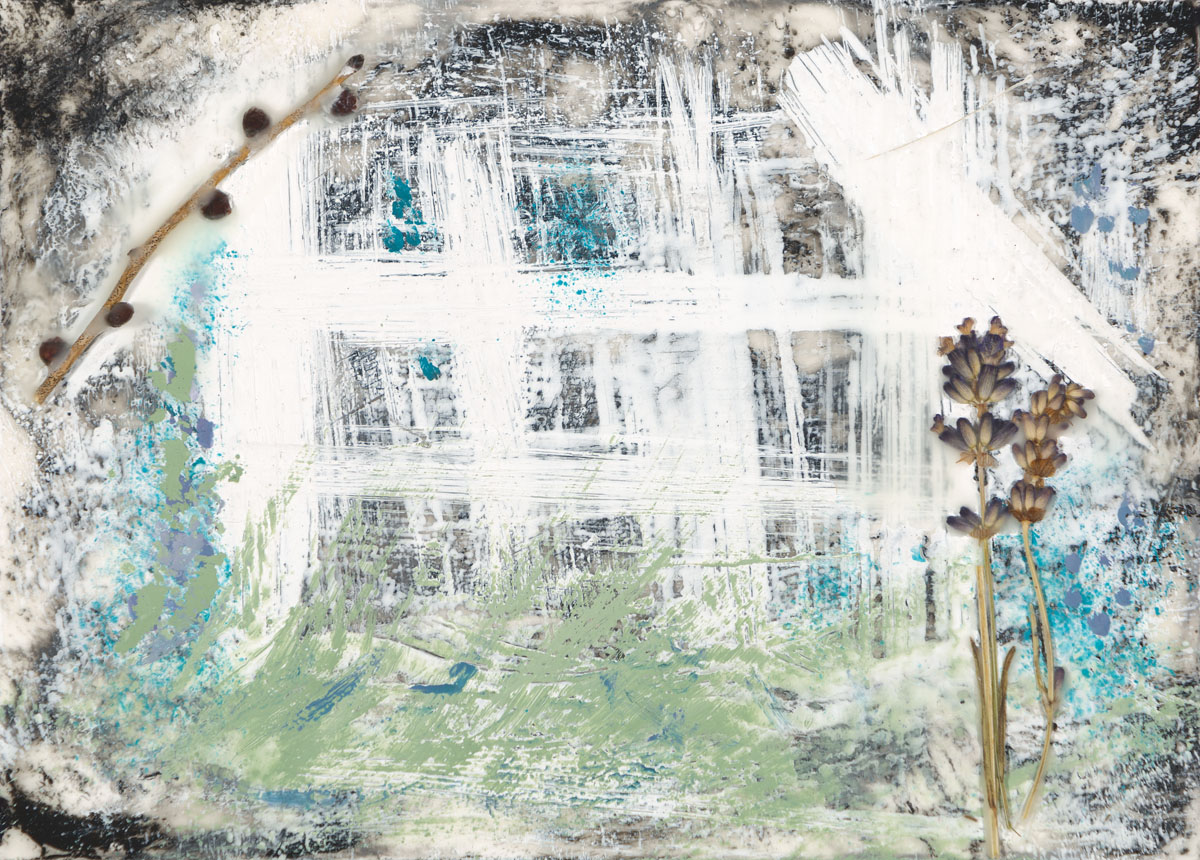 "Denise Karth | Southern Charm | Encaustic, Mixed Media (5"" x 7"")"