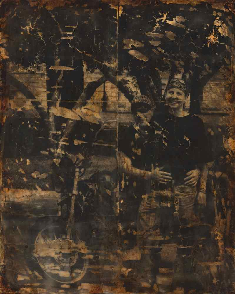 "Melissa Rian | Wife | Encaustic, Photo Transfer (20"" x 16"")"