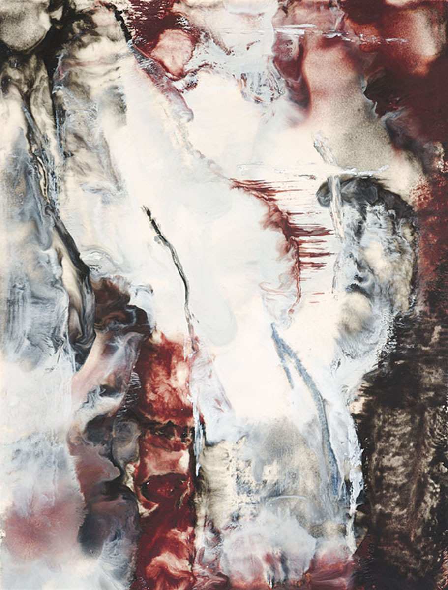 "Nora Chapa Mendoza | Angels Gathering | Encaustic (20"" x 16"")"